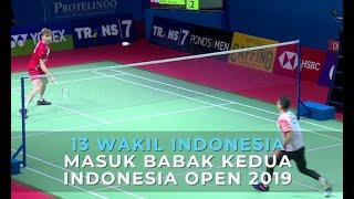 Download Video 13 Wakil Indonesia Masuk Babak Kedua Indonesia Open 2019 MP3 3GP MP4