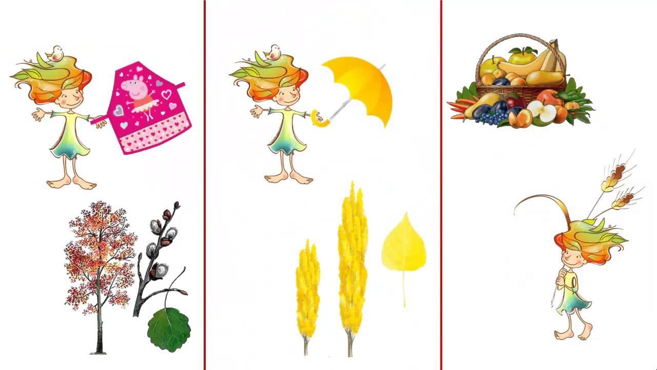 Учим стихотворение с ребенком. Мнемотаблица Осень.