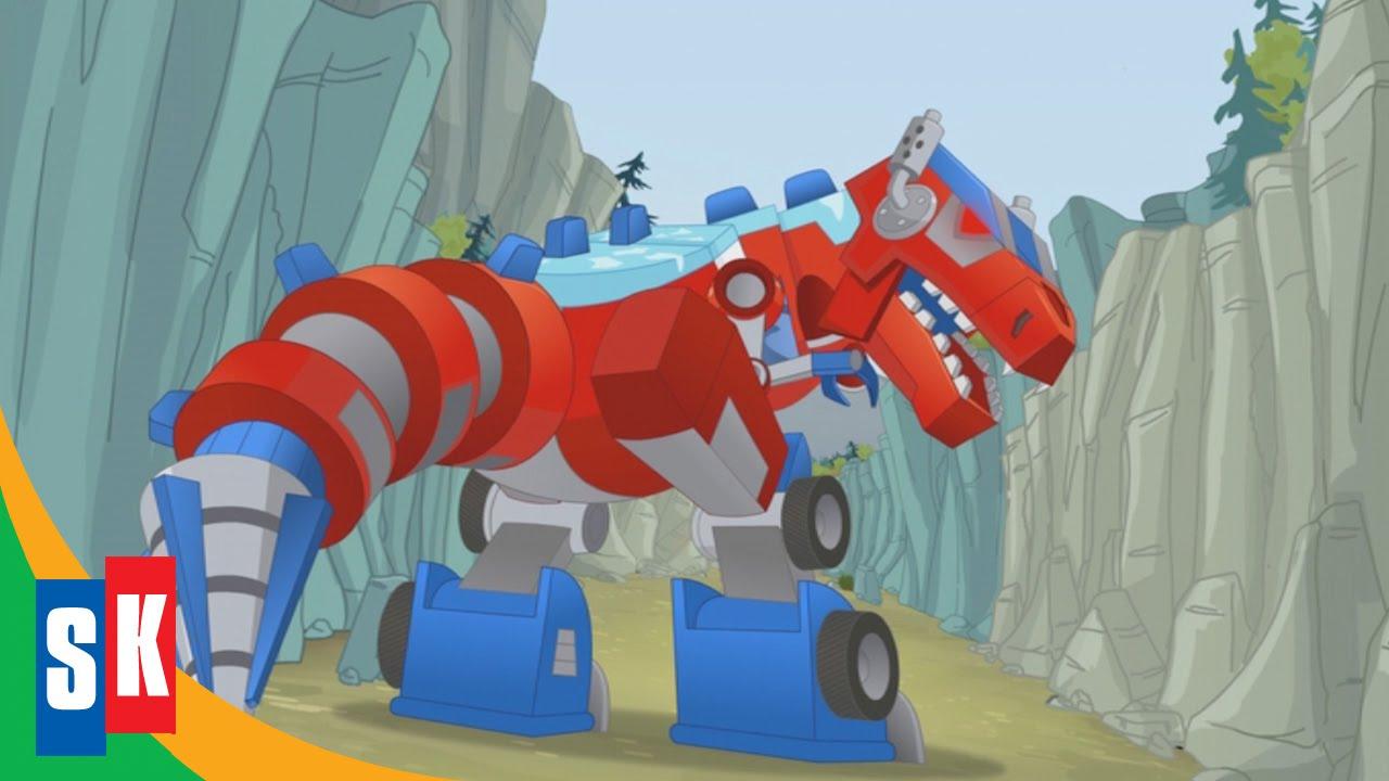 Transformers Rescue Bots Dinobots 23 Optimus Loses