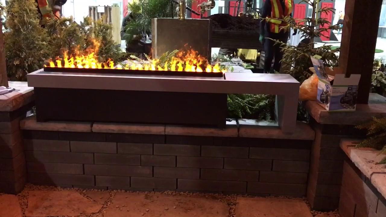 Electric fire pit handmade by nero fire design opti myst burners cdfi1000p dimplex