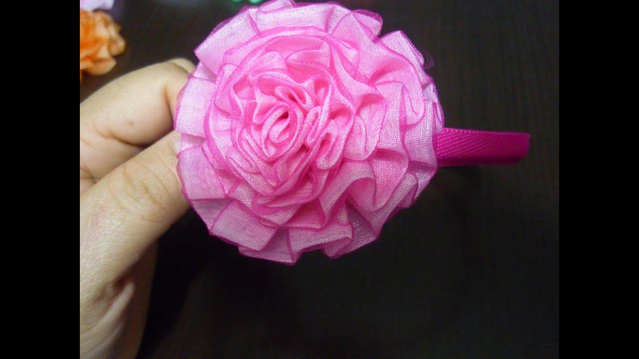 Como hacer flor cinta churca prefabricadahow to make - Como hacer flores ...