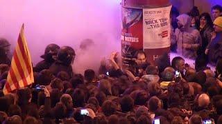 Protestas en Barcelona tras la detención de Puigdemont