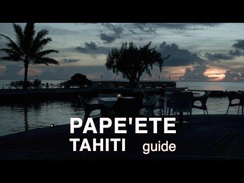 Cruising Doris Visits Papeete, Tahiti; resort & street food.