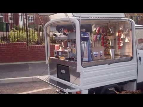 Piaggio Ape Coffee van from Coffee Latino