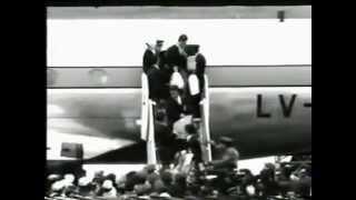 Noticiero: Recibida en Ezeiza campeonato internacional de fútbol (Lóndres 1966)