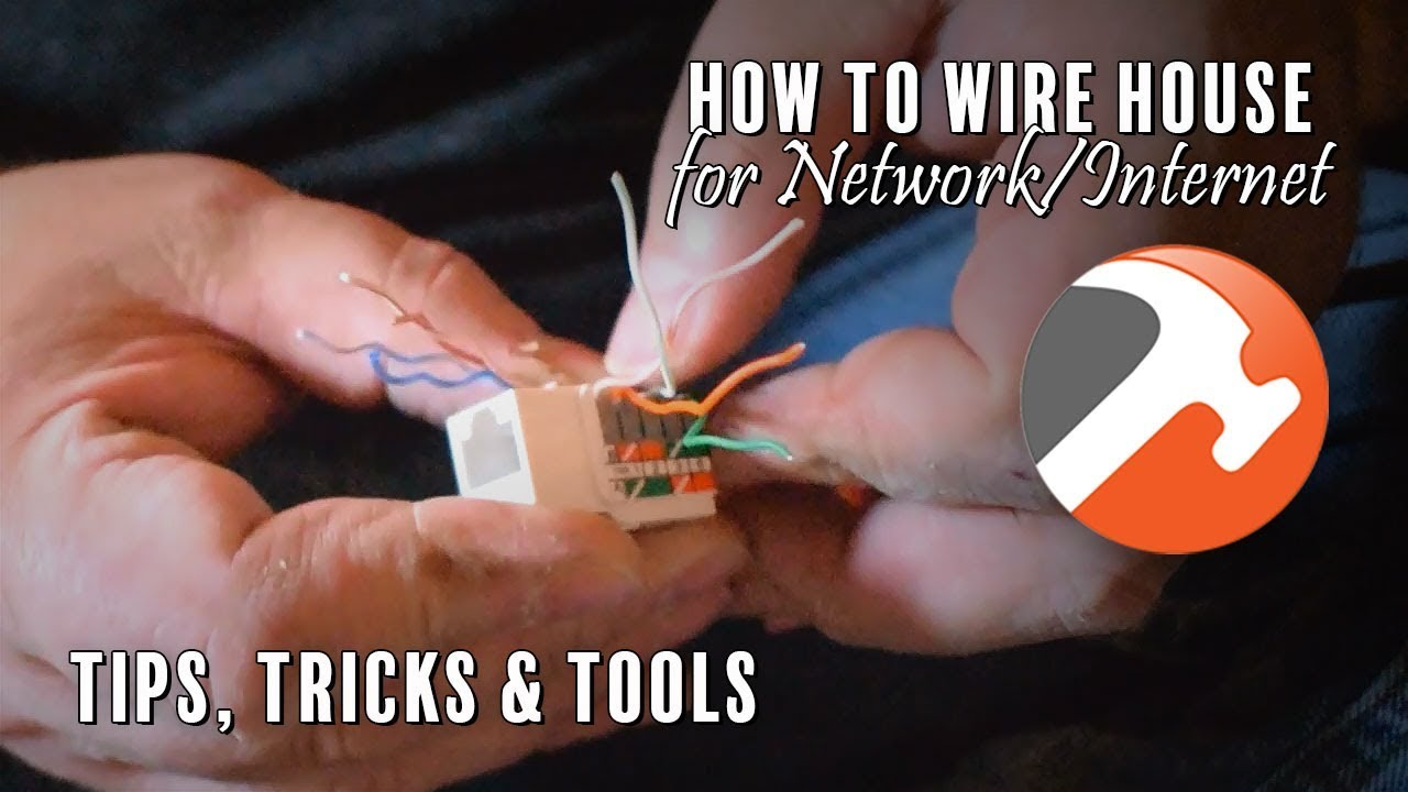 how to wire house for network internet tips tools tricks cat5e cat6 rj45 [ 1280 x 720 Pixel ]