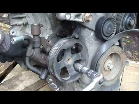 How to replace power steering pump Toyota Corolla VVT-i engine. Years 1992 to 2010.