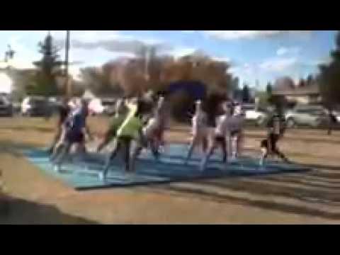 Stanley high school cheerleaders