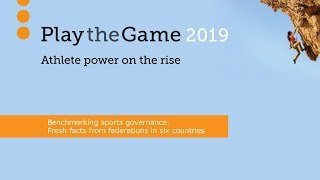 Play the Game 2019: Benchmarking sports governance