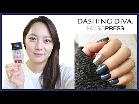 Dashing Diva Magic Press Try-On Review, Quick And Easy Instant Nails!