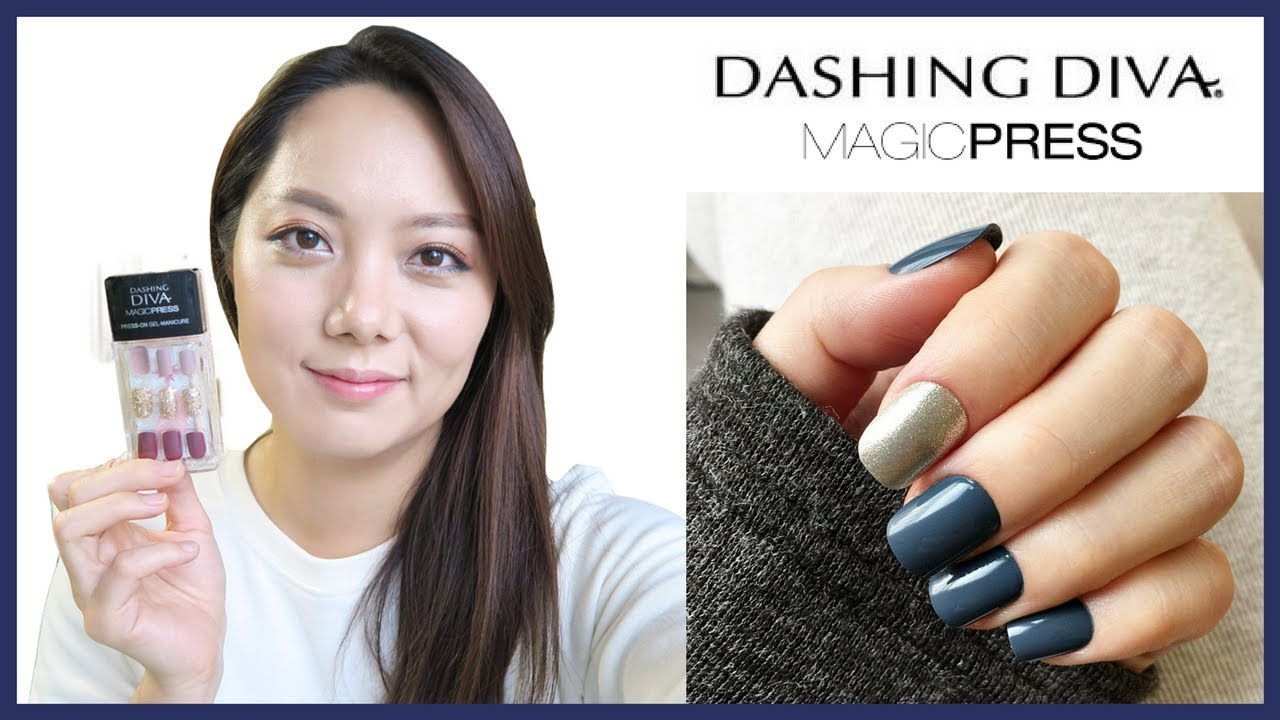 Dashing Diva Magic Press Try-On Review, Quick and Easy Instant Nails ...