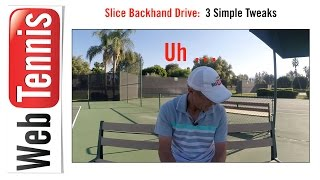 Tennis Technique - The Slice Backhand Drive