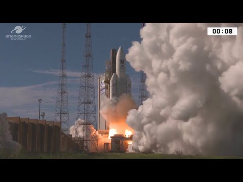ESA launches four satellites on an Ariane 5 as part of the EUs Galileo satellite navigation system.