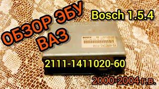 ЭБУ (Мозги) на ВАЗ 2111-1411020-60. Обзор и прошивка Bosch 1.5.4 1.5 8 кл. евро-2 от ВАЗ 2000-04 гв.
