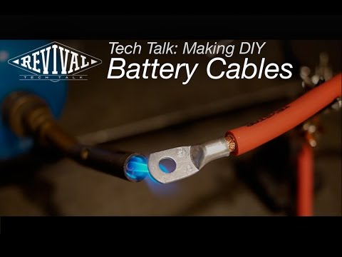 Making Motorcycle Battery Cables - Revival Cycles Tech Talk