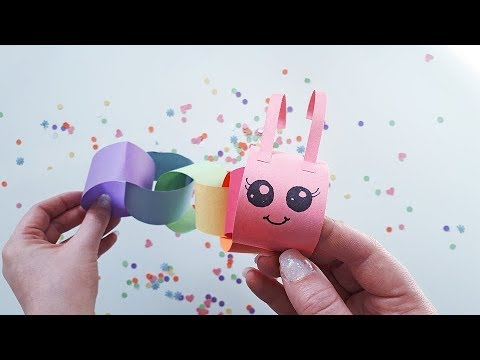 Caterpillar Paper Chain (Construction Paper Crafts for Kids, Day 4)