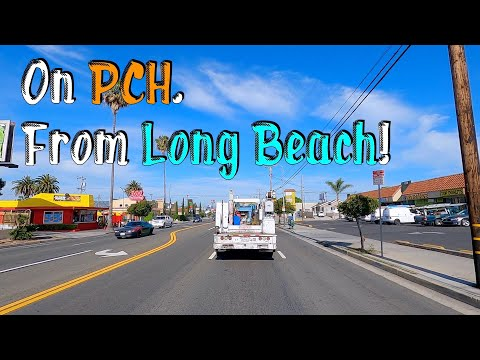 PCH from Long Beach! Los Angeles Drive Tour Video. HD.