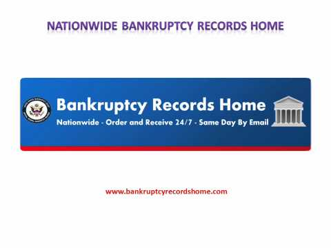 Official Bankruptcy Discharge Papers | Court Records