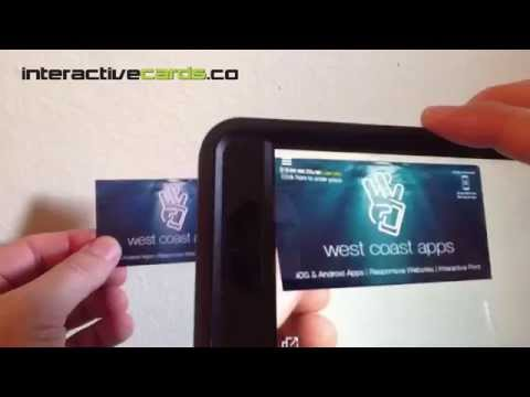 Augmented Reality Business Cards from InteractiveCards.co