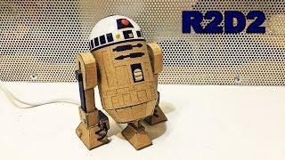 Как сделать дроид R2D2 из картона и лампочки