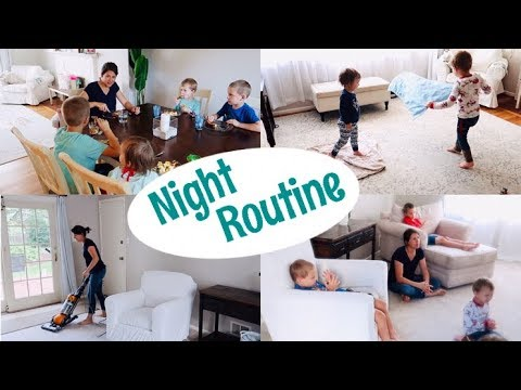 MY SUMMER NIGHT ROUTINE || MOM WITH 4 KIDS 2019 || Dinner, cleaning up and family prayer