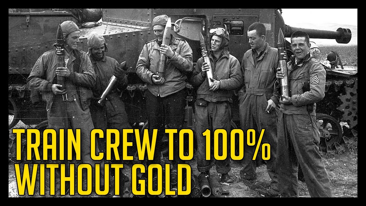 World Of Tanks How To Train Your Crew To 100 Without