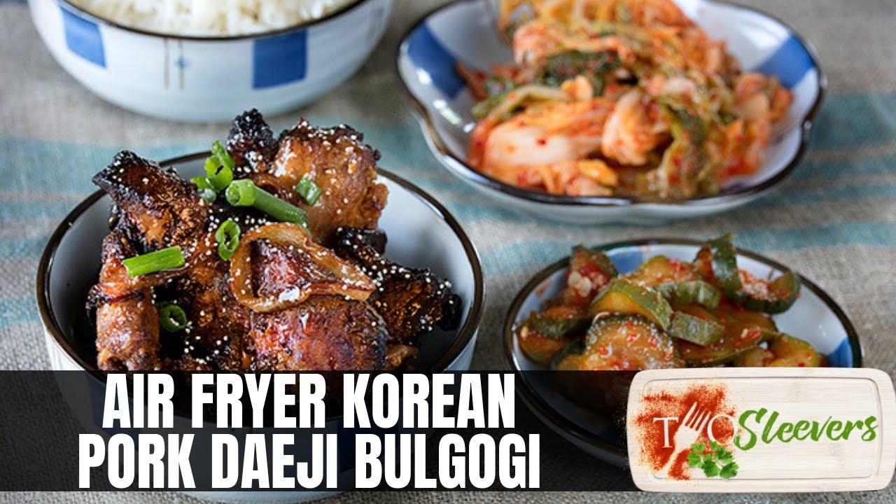 Air Fryer Korean Grilled Pork Dae Ji Bulgogi Recipe