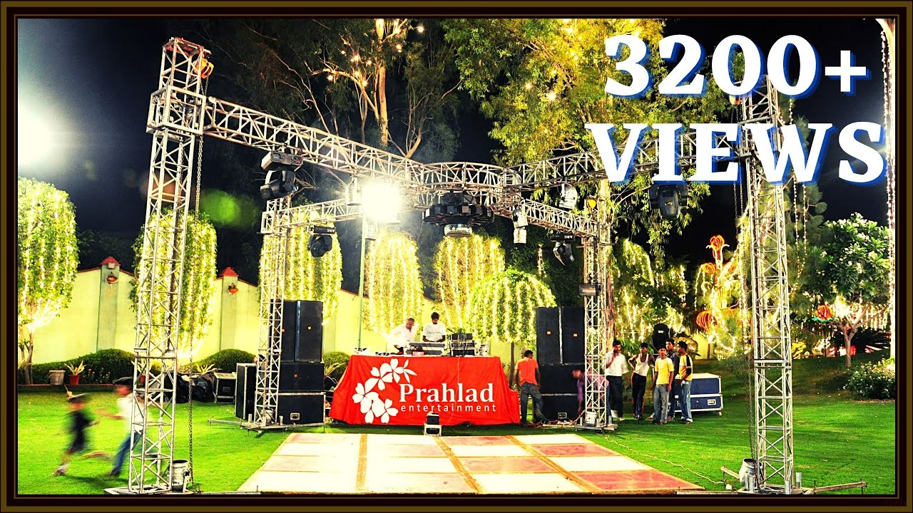 4 PILLAR CROSS TRUSS DJ SETUP Prahlad Entertainment