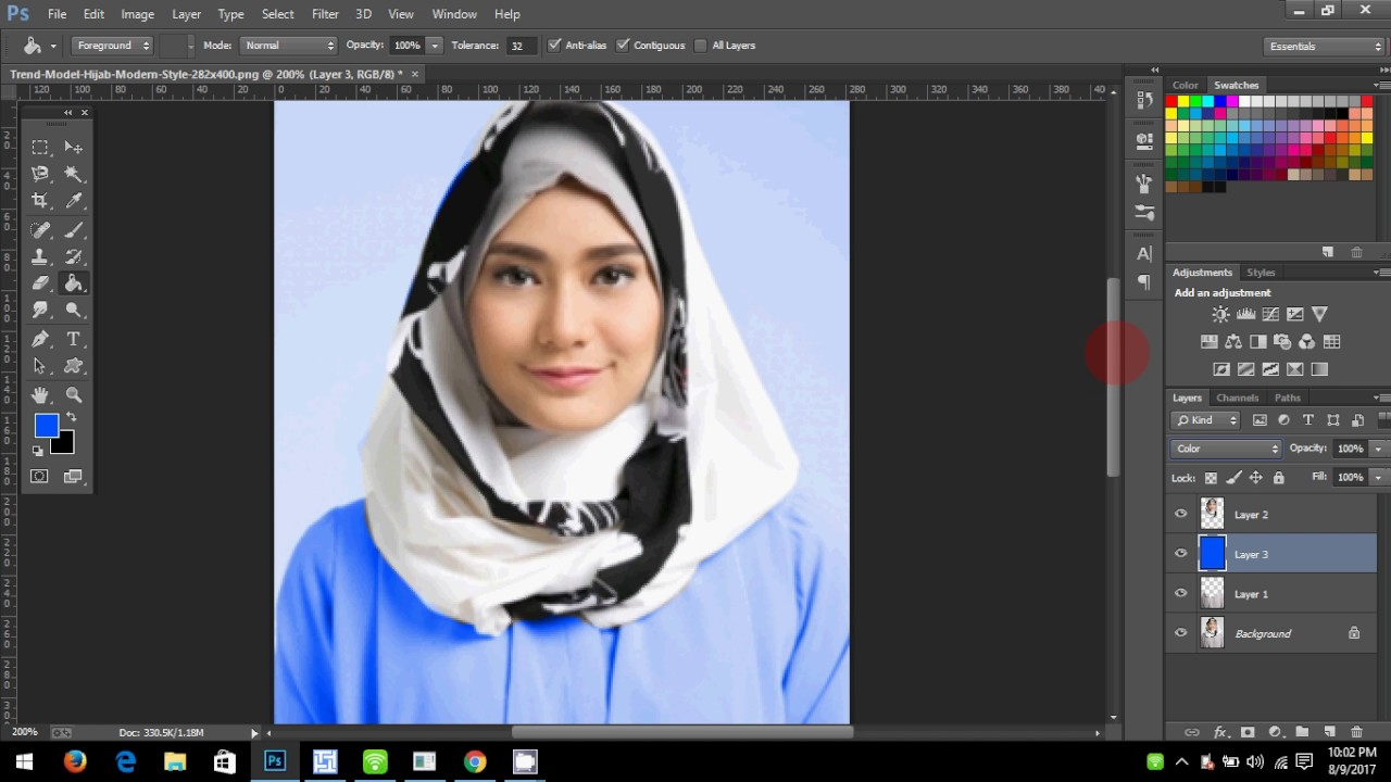 Cara Mewarnai Desain Baju Di Photoshop | Gejorasain