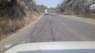 Accident spot where A bolero dashed me on my left on 29.2.18.  Bangriposi ghat
