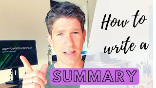 How to write a suṁmary - 3 Steps