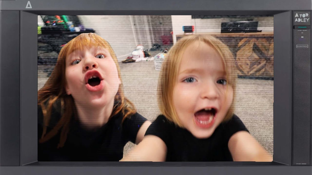 A for ADLEY TV  📺 Trapped inside a TV with my brother Niko! a family show plays on every channel!