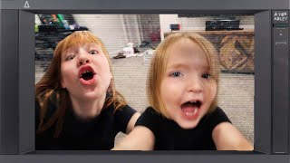A for ADLEY Tν 📺 Trapped inside a TV with my brother Niko! a family show plays on every channel!