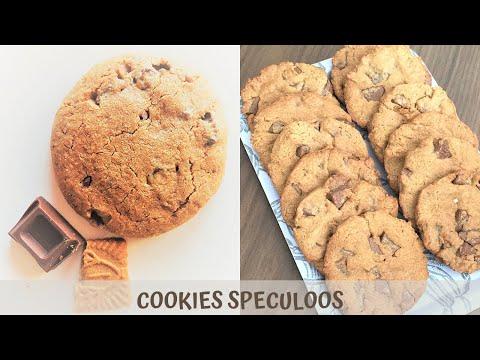 recette-cookies-🍪-speculoos-pépites-de-chocolat-au-lait-:-rapide,-facile-et-irrésistible-😍