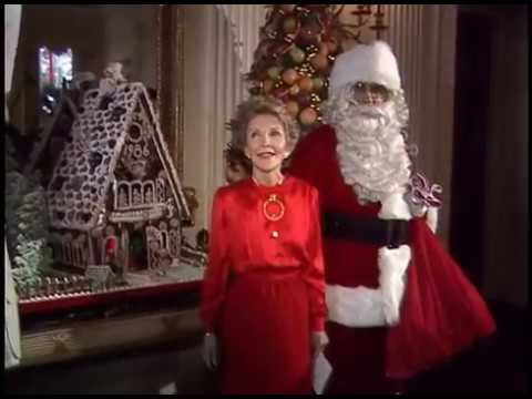 Nancy Reagan's Press Tour of the White House Christmas Decorations on December 8, 1986