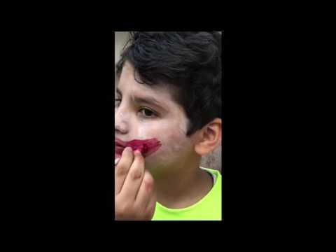 كيف ترسم على وجهك الجوكر بطريقه سهلى Youtube
