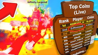 He got the BEST RANK and HIGHEST FORM in Roblox Ninja Legends!