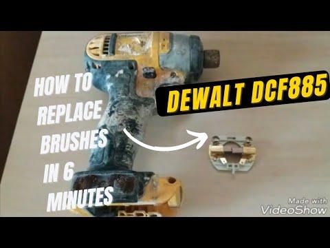 DeWalt  Impact driver DCF885 brush replacement (full tutorial)