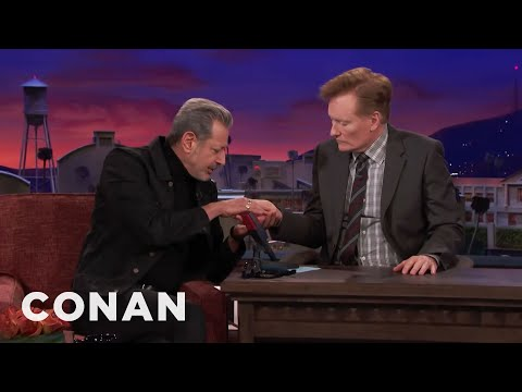 Jeff Goldblum Thinks Palm Reading Is Nonsense  - CONAN on TBS