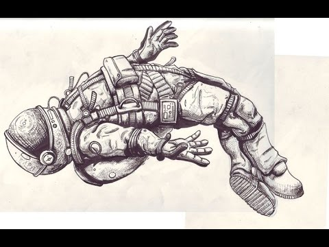 drawing of astronaut floating in space - photo #29