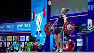 Raluca-Andreea Olaru (53) - 75kg, 79kg, & 81kg Snatches 2017 Youth Worlds