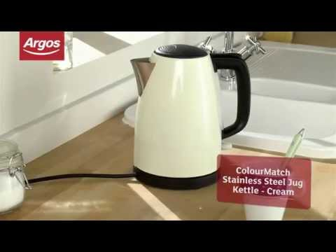 ColourMatch Stainless Steel Cream Jug Kettle - Argos Review