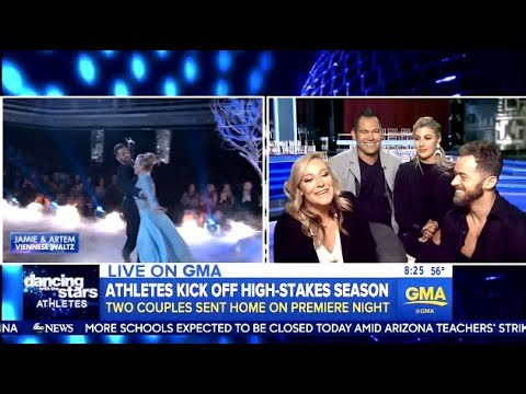 DWTS Eliminated Couples Johnny & Emma - Jamie & Artem (GMA Interview)