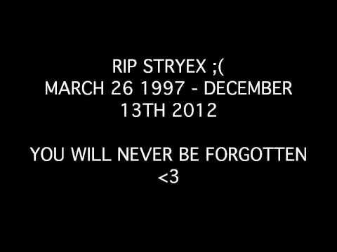 R.I.P STRYEX MARCH 26 1997- DECEMBER 13TH 2012