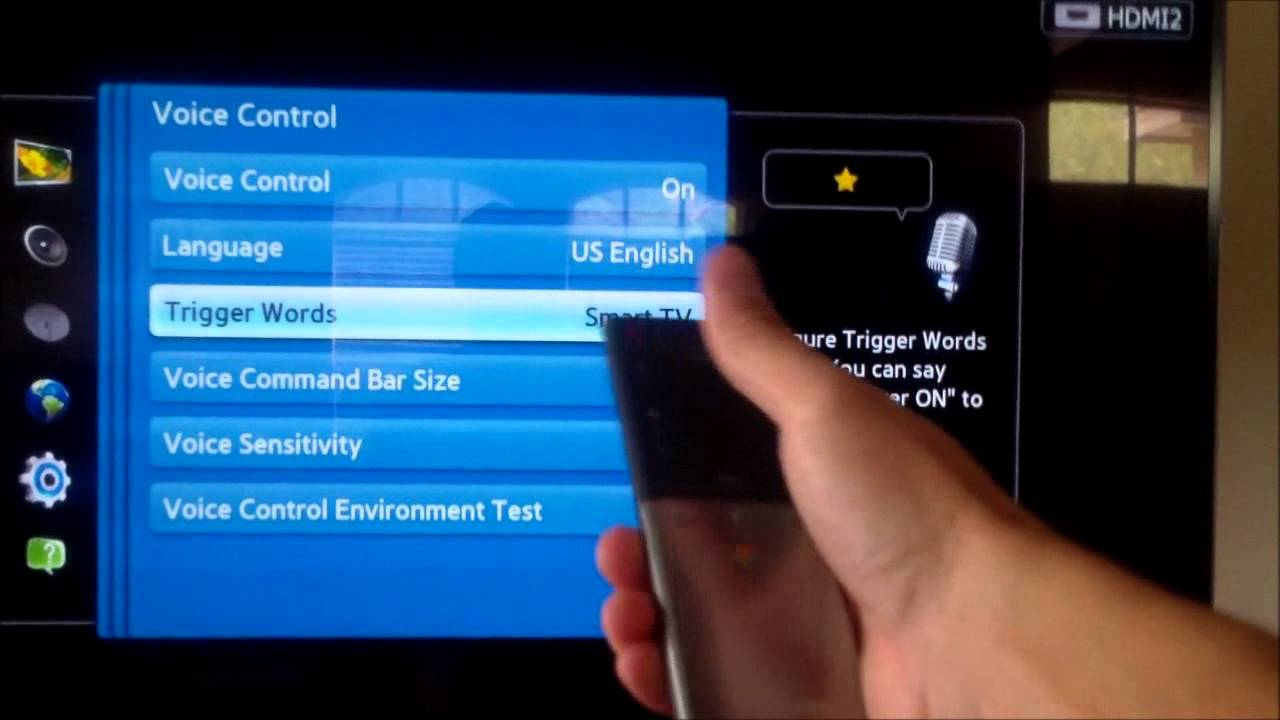 SAMSUNG TV MOTION & VOICE CONTROL DEMO