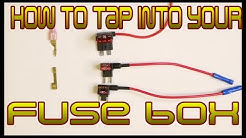 How to tap into your cars fuse box safely and cleanly