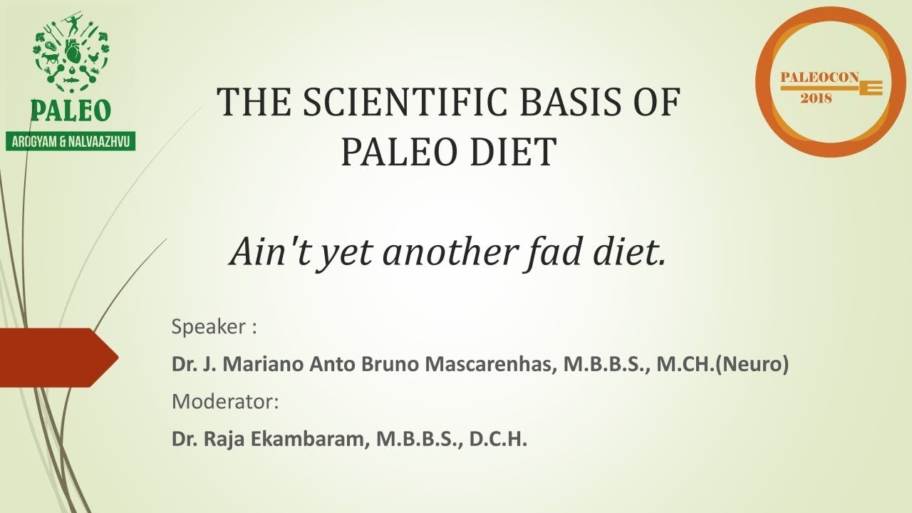 1 Paleocon 2018 The Scientific Basis Of Paleo Diet Dr J