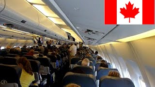 FLIGHT TO MONTREAL take plane LANDING DECOLLAGE ATTERRISSAGE TRUDEAU ST EXUPERY VOL FRANCE CANADA