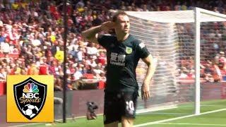 Ashley Barnes equalizes for Burnley against Arsenal | Premier League | NBC Sports