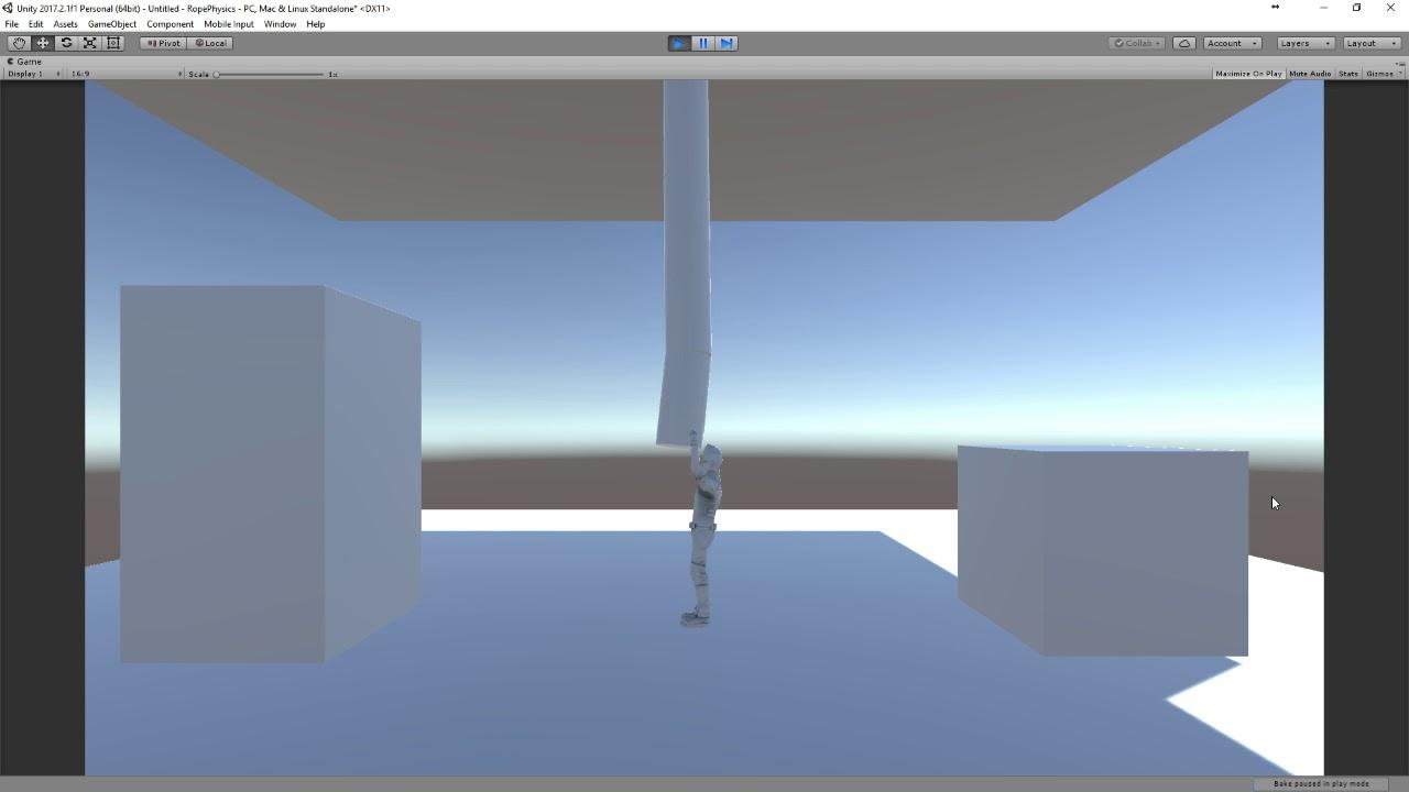 Unity 3D rope swinging